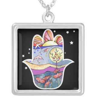 Hand of God Bat Mitzvah Hemsa Gift Necklace necklace