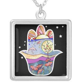 Hand of God Bat Mitzvah Hemsa Gift Necklace