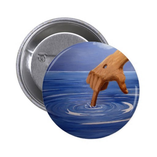 Hand of God image, the Center of all 2 Inch Round Button
