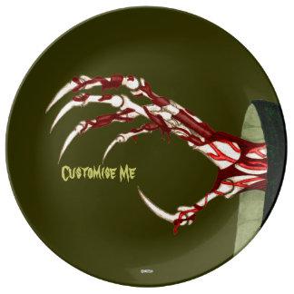 Hand of Grim Porcelain Plates