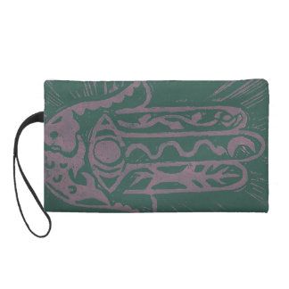 Hand of Hamas Linocut Wristlet Bag