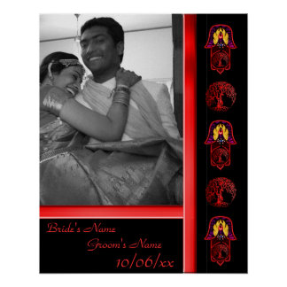 Hand of Hamsa feat: Tree of Life 3 (Wedding) Poster
