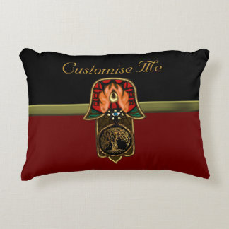 Hand of Hamsa feat: Tree of Life Decorative Pillow