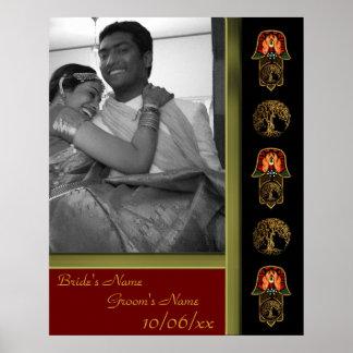 Hand of Hamsa feat: Tree of Life (Wedding) Poster