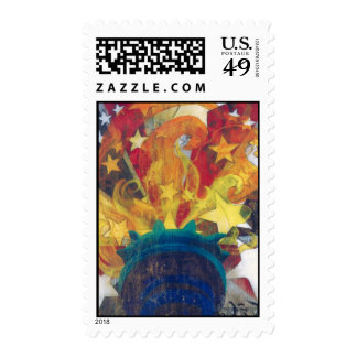 """""""Hand of Liberty"""" by Frances Byrd Postage Stamps"""