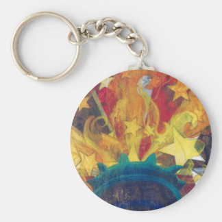 """Hand of Liberty"" Merchandise by Frances Byrd Basic Round Button Keychain"