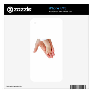 Hand of mother with arm of baby iPhone 4S skin