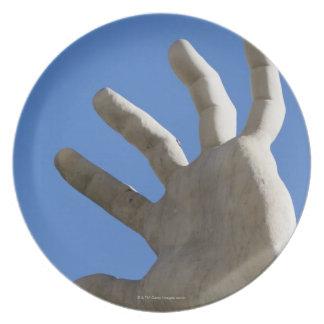 hand of statue on Fontana dei Quattro Fuimi, Party Plate