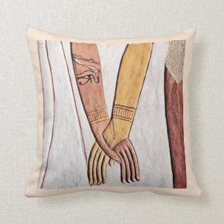 Hand of The Goddess Egyptian Wall Art Throw Pillow