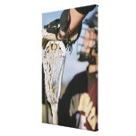 Hand on a Lacrosse Stick Canvas Print