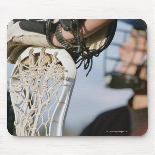 Hand on a Lacrosse Stick Mouse Pad