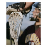 Hand on a Lacrosse Stick Poster