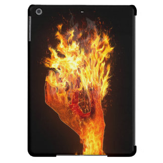 Hand on fire iPad air cases
