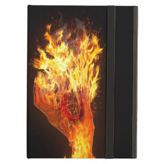 Hand on fire case for iPad air