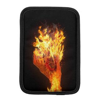 Hand on fire iPad mini sleeve