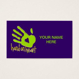 hand on heart business card