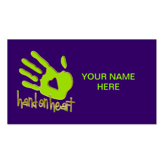 hand on heart Double-Sided standard business cards (Pack of 100)
