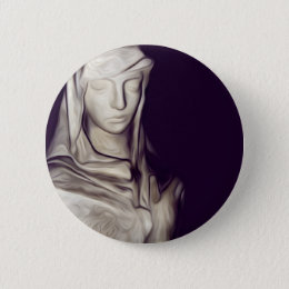 hand on heart pinback button