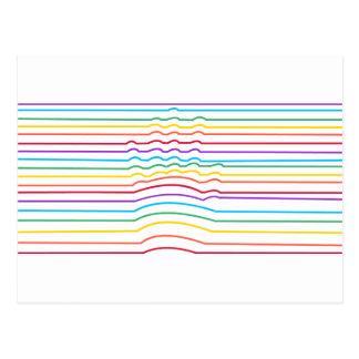 Hand Optical Illusion Postcard