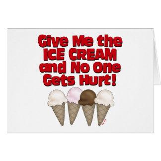 Hand over Ice Cream Greeting Card
