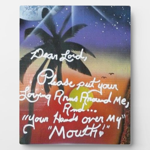 Hand Over My Mouth Photo Plaque