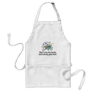 Hand Over The Beads And Nobody Gets Hurt Beads Apron