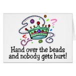 Hand Over The Beads And Nobody Gets Hurt Beads Cards