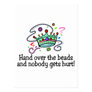 Hand Over The Beads And Nobody Gets Hurt Beads Postcards