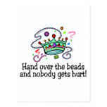 Hand Over The Beads And Nobody Gets Hurt Beads Postcard