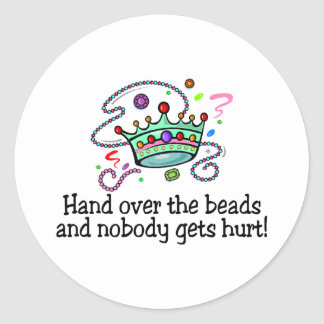 Hand Over The Beads And Nobody Gets Hurt Beads Sticker