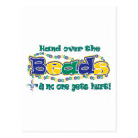 Hand over the beads post cards