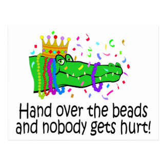 Hand Over The Beads Postcard