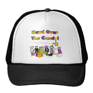 Hand Over the Candy Halloween Tshirts and Gifts Hats