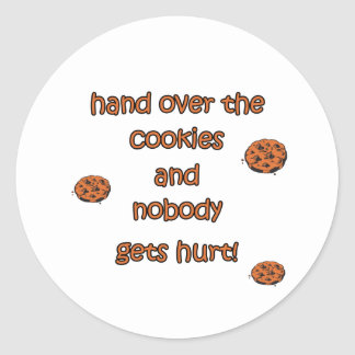 Hand Over The Cookies Stickers