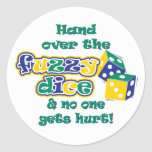 Hand over the fuzzy dice stickers