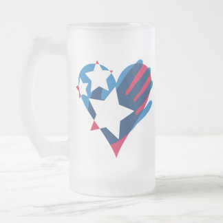 Hand Over Your Heart Frosted Mug