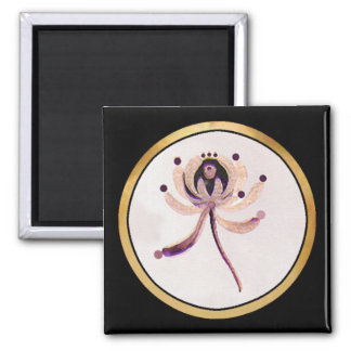 Hand painted 2 inch square magnet