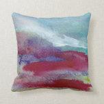Hand Painted Abstract Art Serenity Prayer Pillow