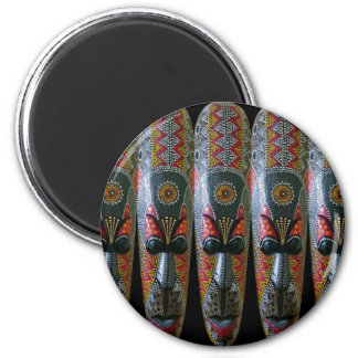 Hand Painted African Tribal Mask Magnet