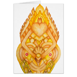 Hand painted art totem card