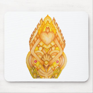 Hand painted art totem mousepad