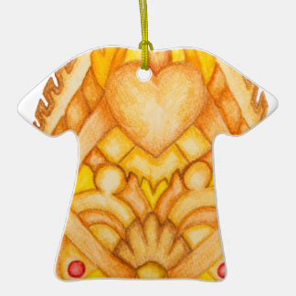 Hand painted art totem Double-Sided T-Shirt ceramic christmas ornament
