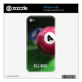 Hand painted billiard balls decals for the iPhone 4S