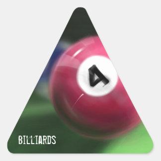 Hand painted billiard balls triangle sticker