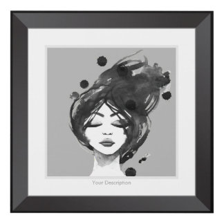 Hand Painted Black Woman Panel Wall Art