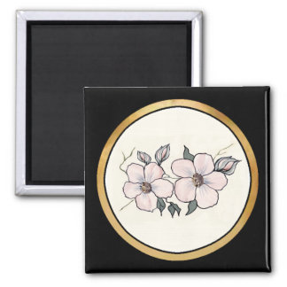 Hand Painted Blossoms Magnet