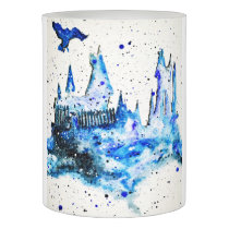 Hand Painted Blue Medieval Castle LED Candle