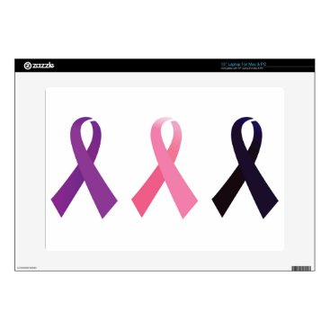 """Professional Business Hand painted cancer ribbons 15"""" laptop decal"""