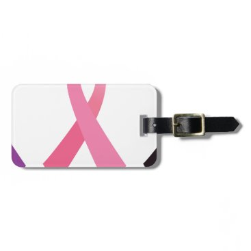 Professional Business Hand painted cancer ribbons bag tag