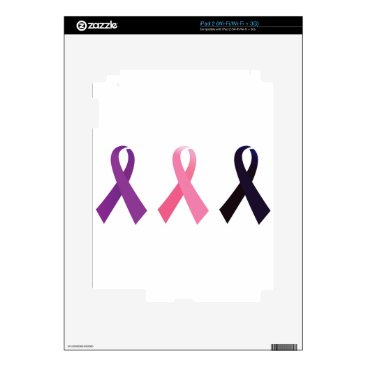 Professional Business Hand painted cancer ribbons decal for iPad 2